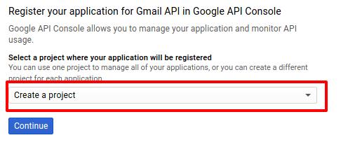 Gmail API Registration