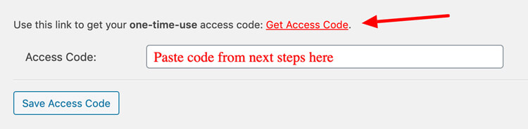 get access code