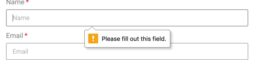 הודעות שגיאת טפסים מהדפדפן